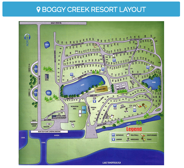 Boggy Creek Resort & RV Park, Orlando Florida.