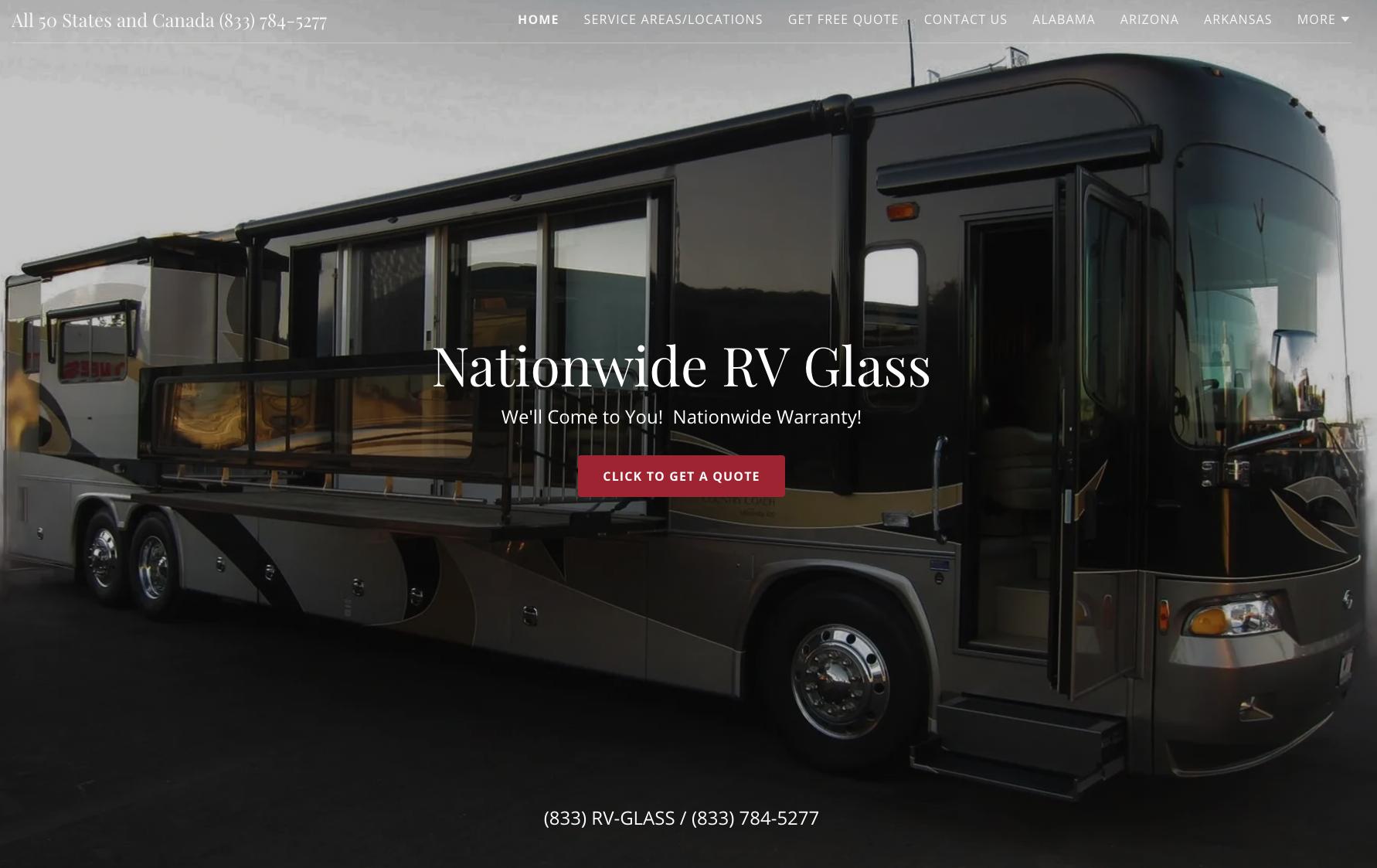 rv glass repair nationwide